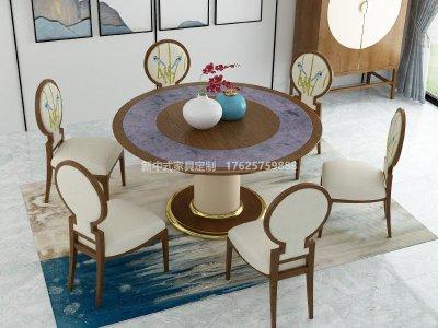 新中式餐桌椅组合JYG-CQS-1942