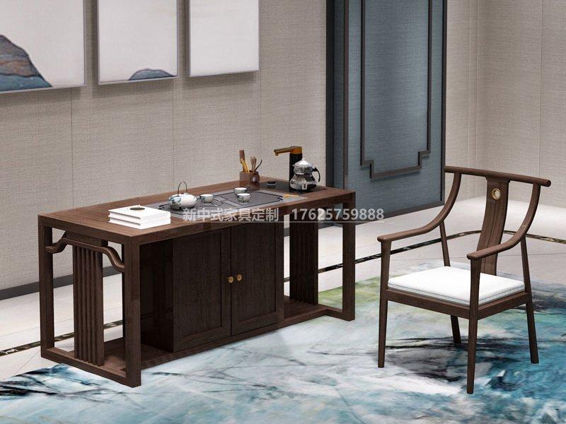 新中式书桌椅组合