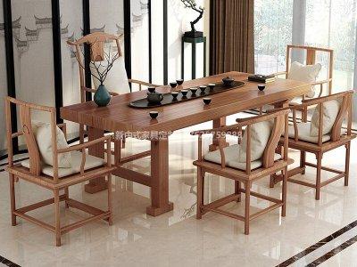 新中式茶桌椅组合JYG-CQS-1970