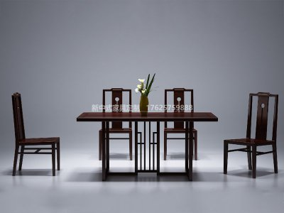 新中式餐桌椅组合JYG-CQS-1986