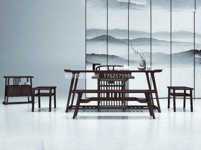 新中式茶室家具JYG-CQS-1998