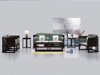 新中式沙发JYG-CQS-2002