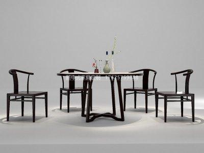 新中式餐桌椅组合JYG-CQS-2014